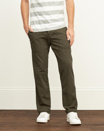 Mens A&F Classic Utility Chinos