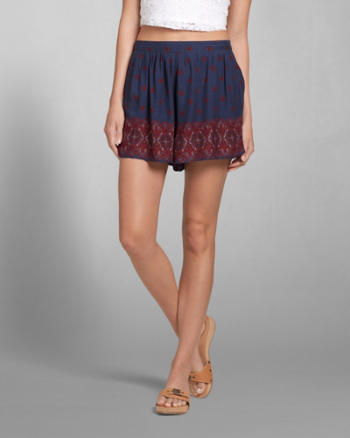 Womens Drapey Pattern Shorts