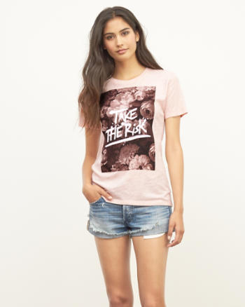 Womens Take the Risk Graphic Tee