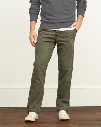 Mens A&F Classic Chinos