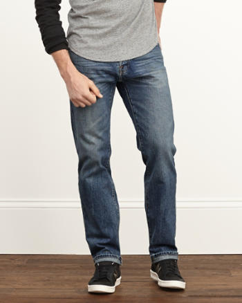 Mens Classic Straight Jeans