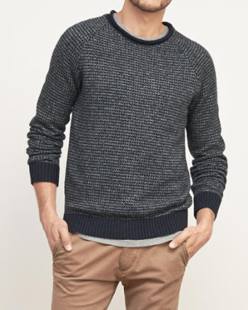 Mens Pattern Crew Neck Sweater