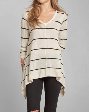 Womens Drapey Asymmetrical Sweater