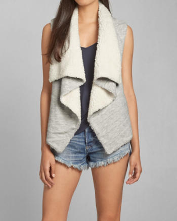 Womens Reversible Sherpa Vest
