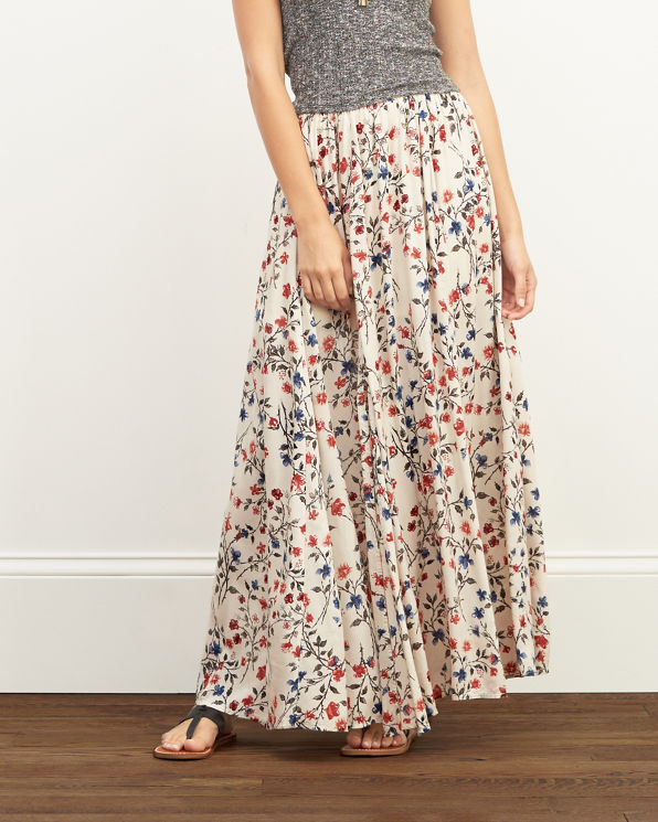 womens floral maxi skirt womens sale abercrombie