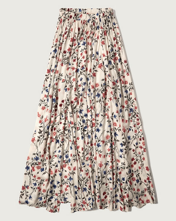 womens floral maxi skirt womens skirts abercrombie co uk