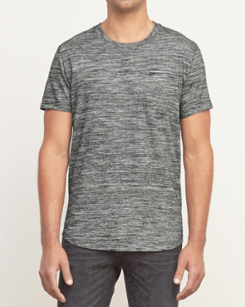 Mens A&F Interior Contrast Pocket Tee