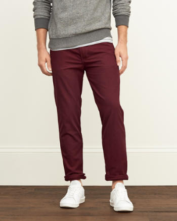Mens A&F Taper Chinos