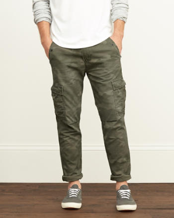 Mens A&F Cargo Taper Chinos