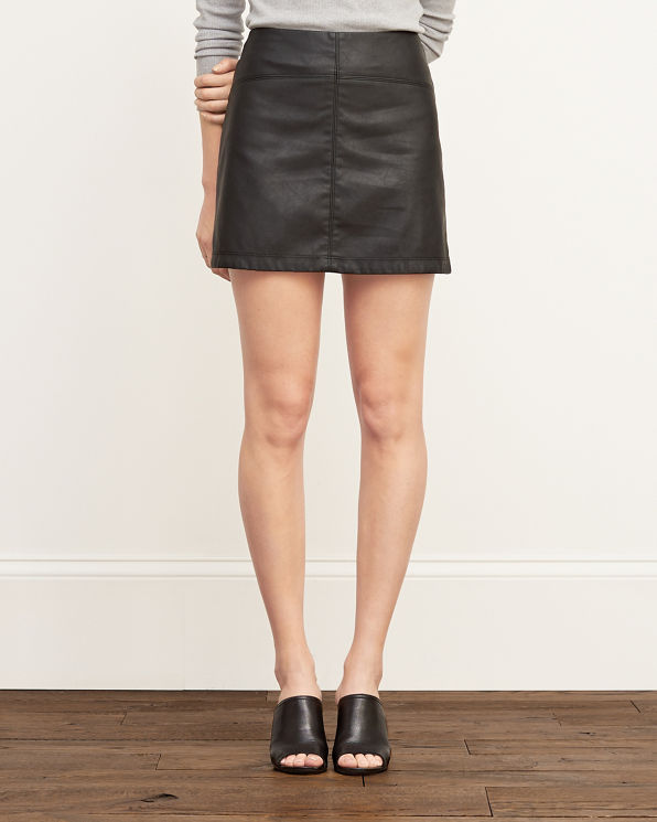 Beautiful Joanie Black ALine Mini Skirt  REISS