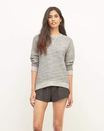 Womens Textured Boucle Sweatshirt
