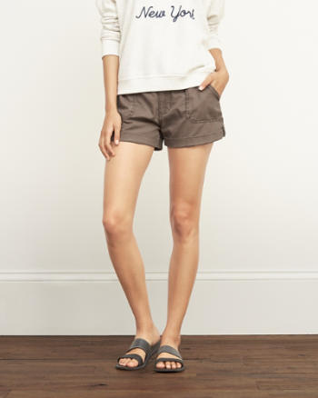 Womens A&F Military Shorts