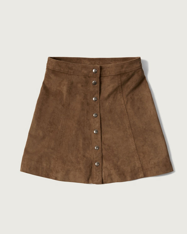womens faux suede a line skirt womens fall lookbooks
