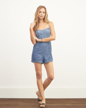 Womens Chambray Romper