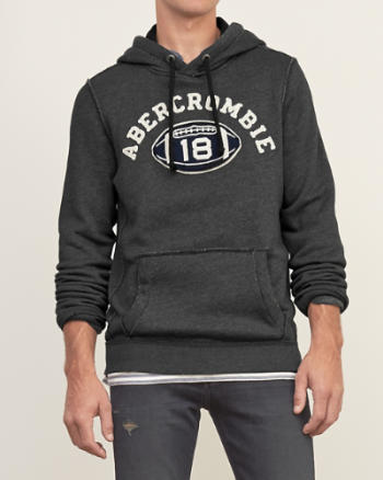Mens Applique Logo Graphic Hoodie
