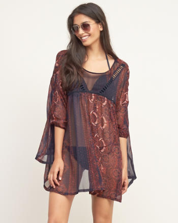 Womens Sheer Chiffon Kaftan