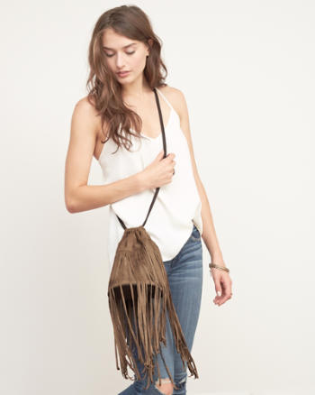 Womens Fringe Crossbody Bag