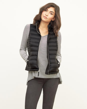 Womens A&F Down Series Lightweight Puffer Vest