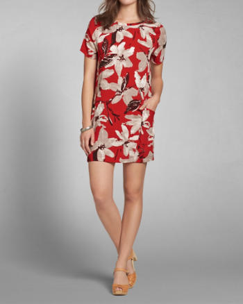 Womens Floral Shift Dress
