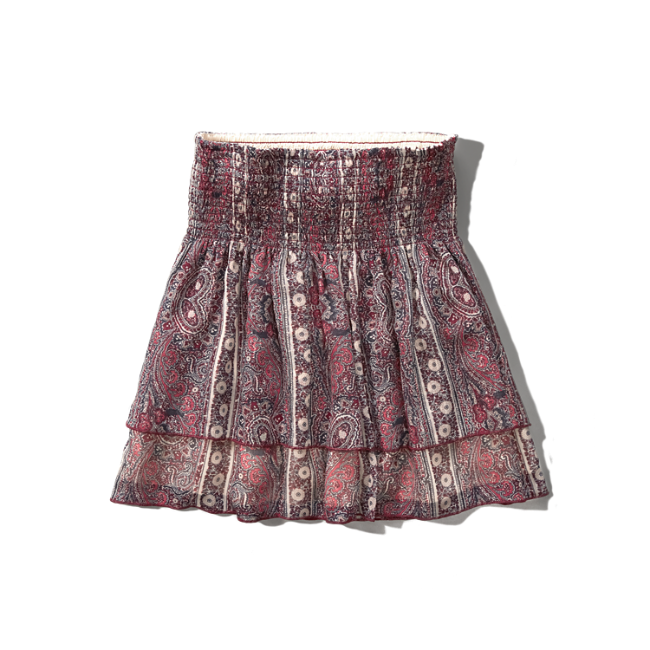 womens patterned ruffle tier skirt womens clearance