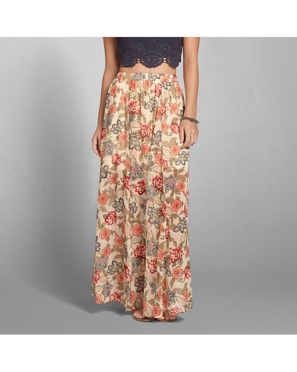 womens pattern chiffon maxi skirt womens sale