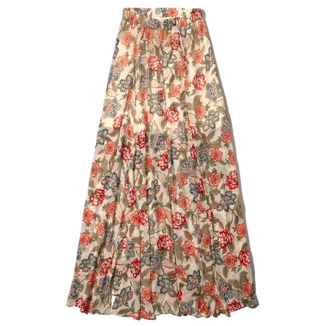womens pattern chiffon maxi skirt womens clearance