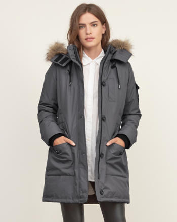 Womens Hooded Arctic Parka Jacket
