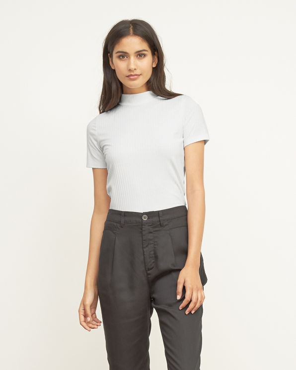 womens mock neck cropped tee womens new arrivals
