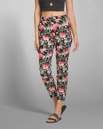 Womens Floral Skimmer Pants