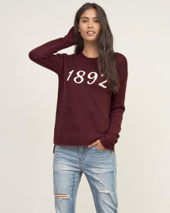 Womens Logo Knit Sweater
