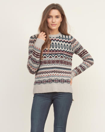 Womens Fair Isle Sweater