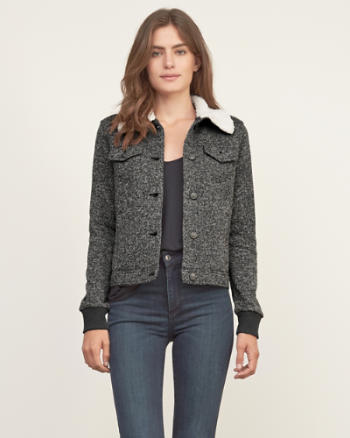 Womens Sherpa Lined Classic Jacket