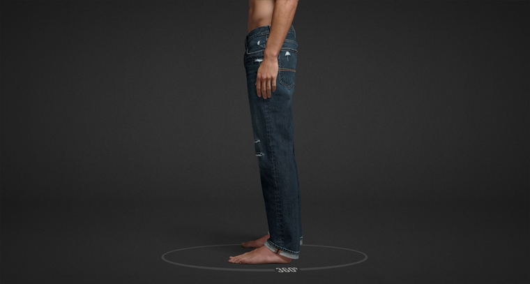 Mens classic straight jeans from Abercrombie & Fitch.