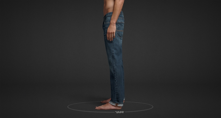 Mens slim straight jeans from Abercrombie & Fitch.