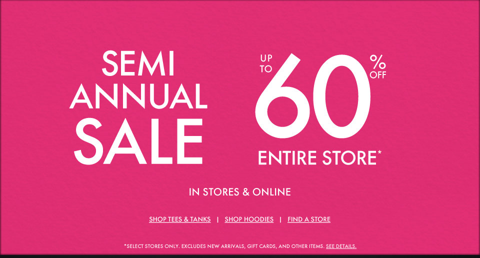 GH Semi  Annual Event - Up to 60% off entire store!