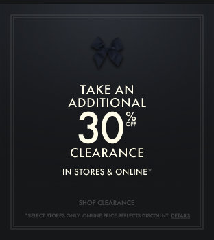 Take an additional 30% off clearance in stores and online at Gilly Hicks!