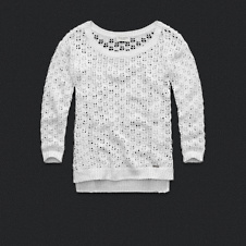 Womens Open-Stitch Sweater