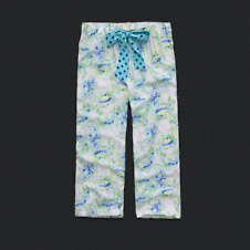 Womens Printed Bow Sleep Bottoms