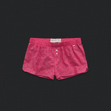 Womens Eyelet Sleep Shorts