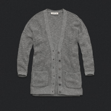 Womens Open-Stitch Cardigan