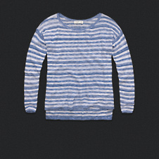Womens Lightweight Stripe Sweater