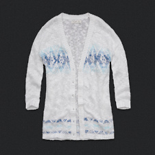 Womens Ombre Pattern Cardigan