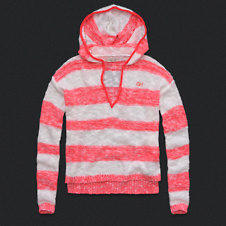 Womens Striped Sweater Hoodie