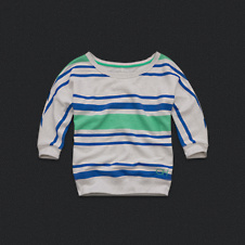Womens Stripe Sweatshirt