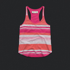 Womens Striped Sleep Tank