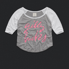 Womens Logo Graphic Baseball Tee