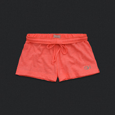 Womens Foldover Knit Shorts