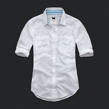 Womens Classic Button-Down Shirt