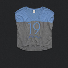 Womens Colorblocked Sporty Tee