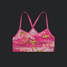 Womens Gilly Hicks Yoga Racerback Bralette